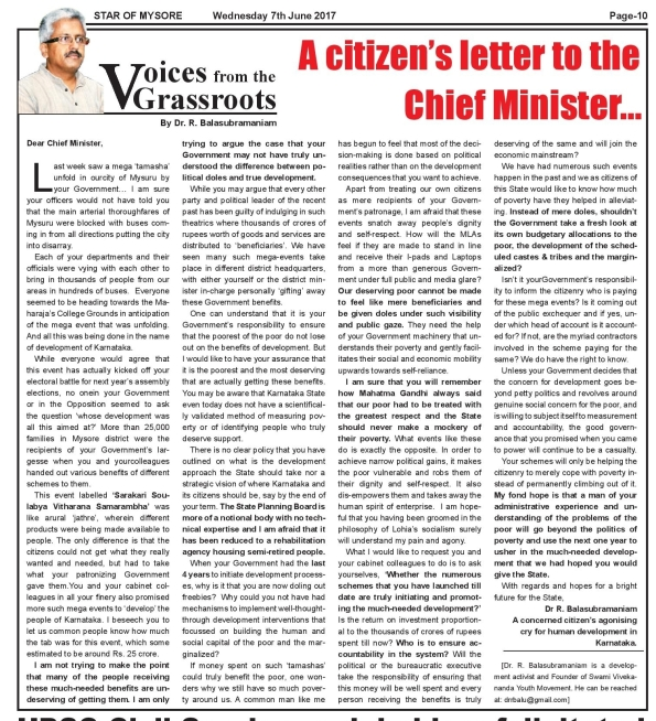 Citizen's Letter SOM