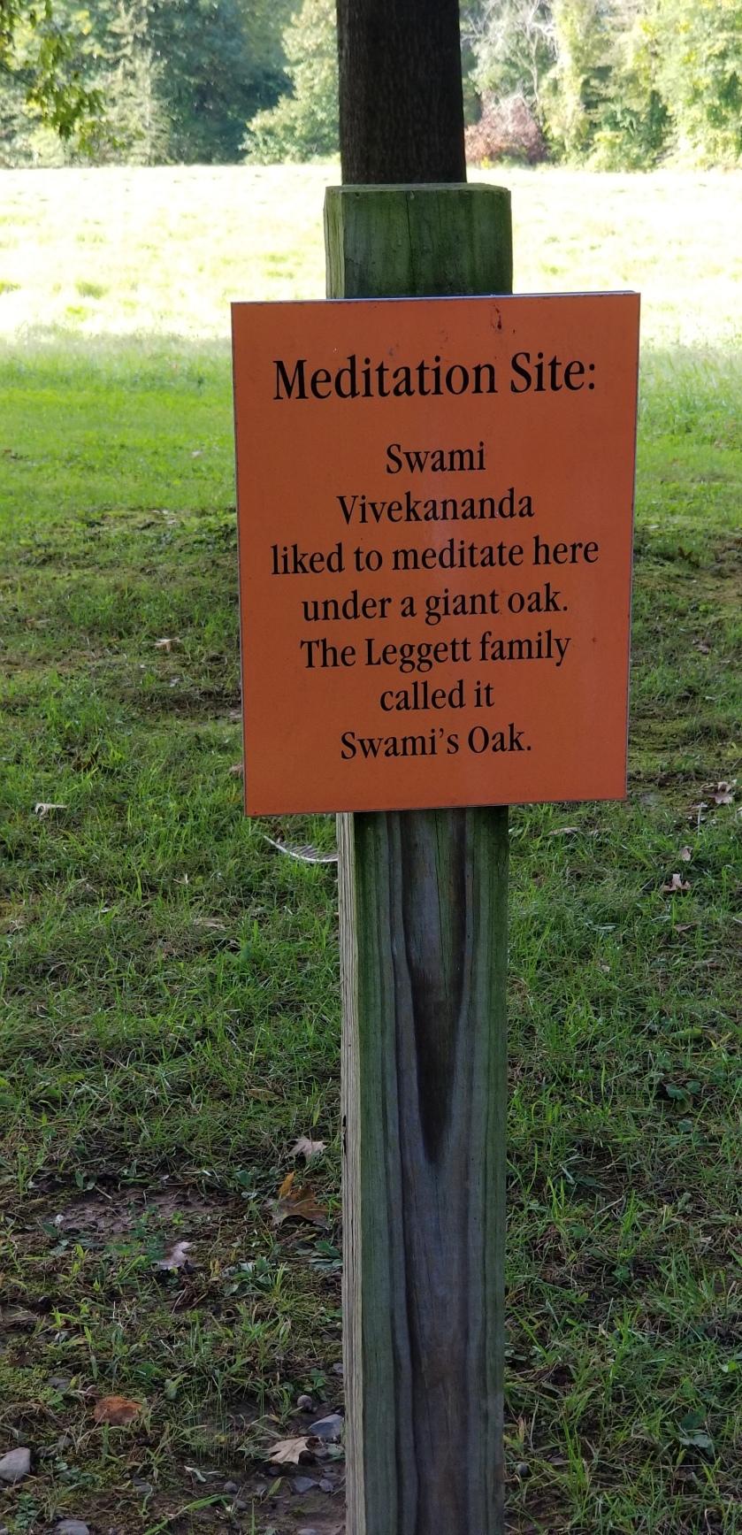 Meditation site Oak
